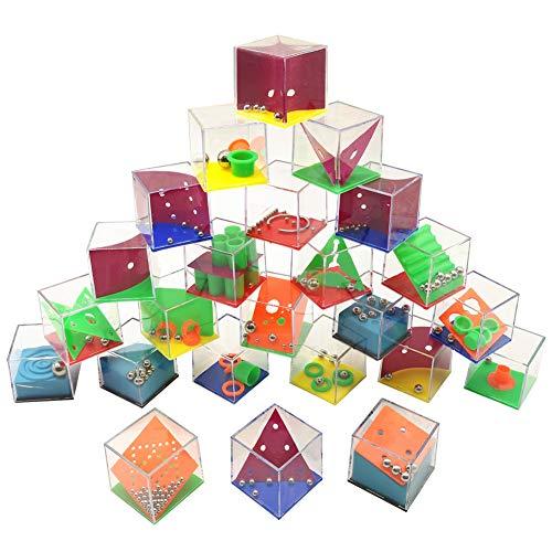 QICI Set di 24 Mini Puzzle con Livelli Assortiti. Perfetti Come regalini...
