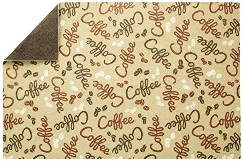 S&T INC. Coffee and Java Maker Mat, 12 Inch x 18 Inch, Coffee Bean Print