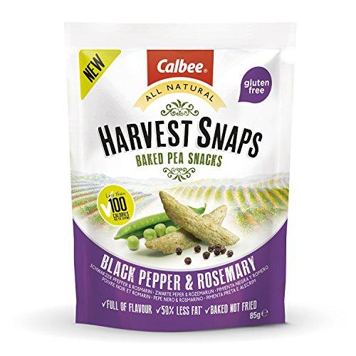 Harvest Snaps - Guisantes horneados Pimienta Negra y Romero -1 bolsa de 85 gramos