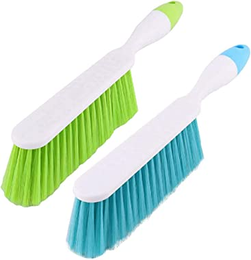 ALOUD CREATIONS Plastic Long Bristle Cleaning Brush for Carpet, Car Seat, Curtains, Mats and Household Upholstery - (Multicol