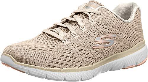 Skechers Flex Appeal 3.0 - Zapatillas deportivas para mujer, color gris, 40 UE, color Beige, talla 39 EU