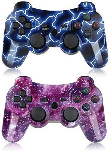 Mando PS3 Inalámbrico para PS3 Controller Bluetooth para Playstation 3 (Deep Blue Galaxy)