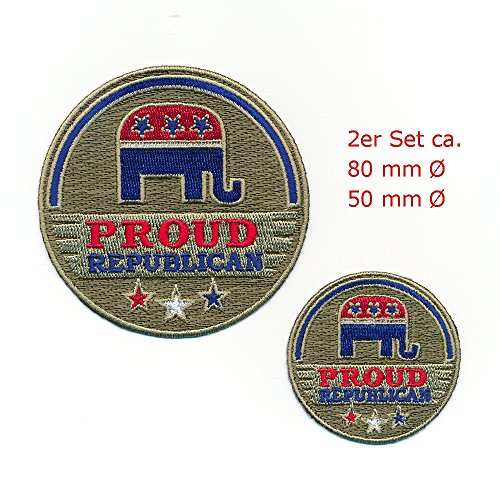 Hegibaer 2 Republikanische partij USA nostalgie patches edele patch strijkijzer set 1104