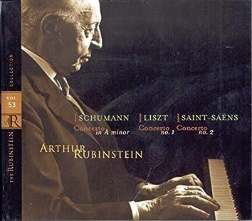 Rubinstein Collection, Vol. 53: Concertos: Schumann Concerto, Liszt Concerto No. 1, Saint-Saëns: Concerto No. 2