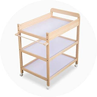 Portable Changing Mats Baby Bed Diaper Table Baby Mobile Bath Massage Care Table Multifunctional Storage And Finishing Table (Color : Brown, Size : 75 * 52 * 94cm)
