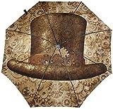 Metal Cobre Engranajes Y Cogs Imagen Automático De Tres Plegables Sombrilla Sombrilla Sombrilla Interior