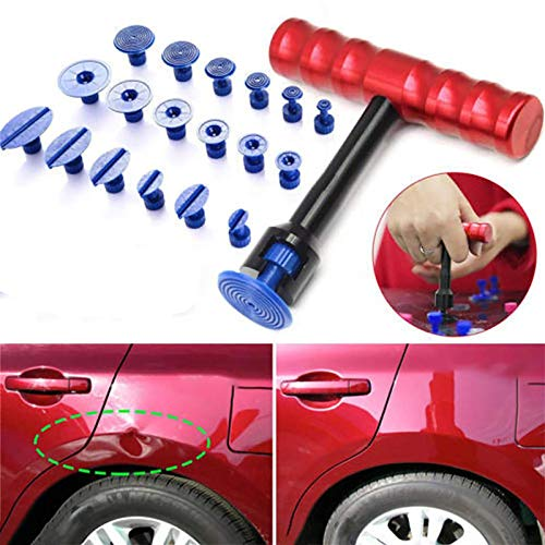U/D Dent Car Puller, Dent Repair Puller,Paintless Dent Repair Kit for Car Auto Body Hail Damage Remover with Glue Tabs