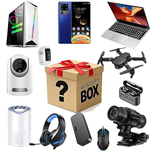 Bdsjjy Mystery Box Mysteries Box,Casuale Fortuna Box Elettronica come un, sorpresa Box contiene regali inaspettati, come droni, orologi intelligenti, gamepad, fotocamere digitali e altro ancora