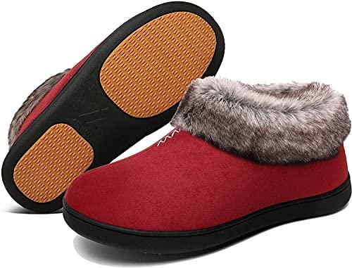XYY del algodón de Las Mujeres Zapatillas Zapatillas, Invierno y Cubierta Exterior Antideslizante y cálido (Size : 40)