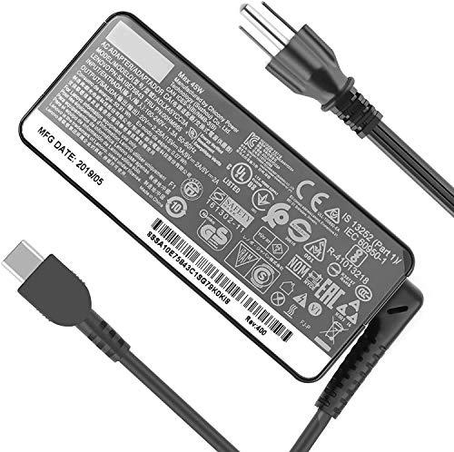 Oushuo Fit for 45w USB-c Charger Fit for 4GX20N20876 4X20M26252 ADLX45YCC3D ADLX45YLC3D ADLX45YDC3D Lenovo Chromebook C330 S330 100e 300e 500e Yoga C630 WOS Lenovo Tablet 10 adlx45ycc3a adlx45ycc2a