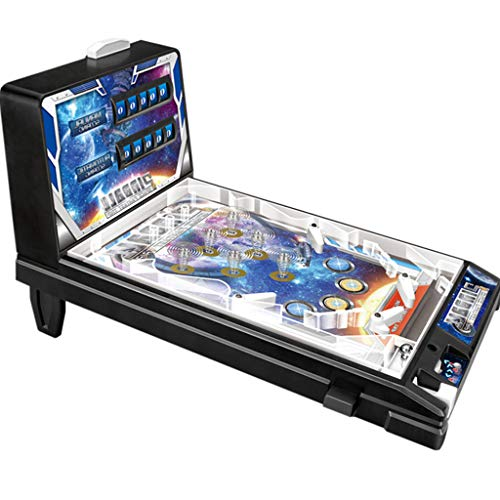 YJKDM Máquina de Juego de Pinball Espacial, máquina de Juego de Juguetes para niños, máquina de Arcade Retro, con Luces y Sonidos, Regalos de Fiesta de cumpleaños