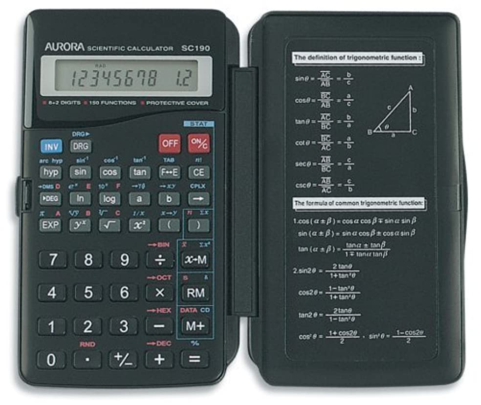 接辞工夫するのホストAurora SC190 8+2 Digit 150-Function Hardcase Scientific Calculator [並行輸入品]