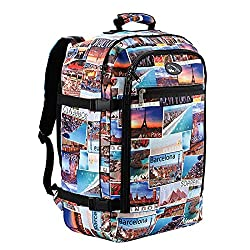 colourful postcard print Cabin Max backpack