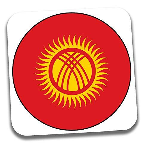 Getränkeuntersetzer mit Kirgisistan-Flagge, Geschenk – Geburtstag – Weihnachten – Strumpffüller – Secret Santa