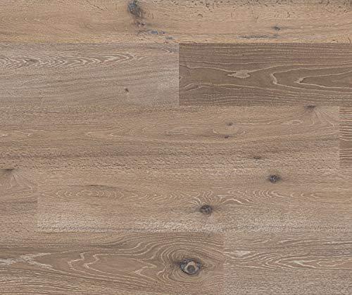 HORI® Parkett 400 Eiche Toulouse rustikal geräuchert gebürstet Laundhausdiele 1-Stab mit Fase weiß-geölt I für 48,68 €/m²