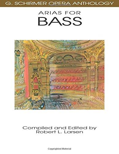 G. Schirmer Opera Anthology - Arias For Bass: Songbook für Bass solo, Klavier