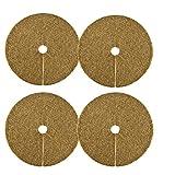 Gxhong Anillos de Fibra de Coco Protección Plantas Disco de Mantillo Coco para Protección contra Heladas Coco Cubierta de Plantas Resistente al Viento e Hidratante 4PCS