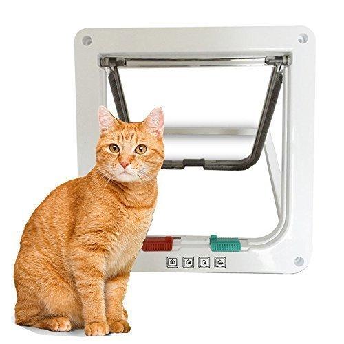 Yosoo animale domestico di gatti di Smart gatti porta gattaiola con 4 Blocco Scegli, 3 dimensioni, bianco