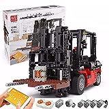 HEID Carretilla elevadora de técnica Mould King 13106, 2,4 G/APP, modelo con 5 motores y mando a distancia, compatible con Lego Technic - 1719 Telie