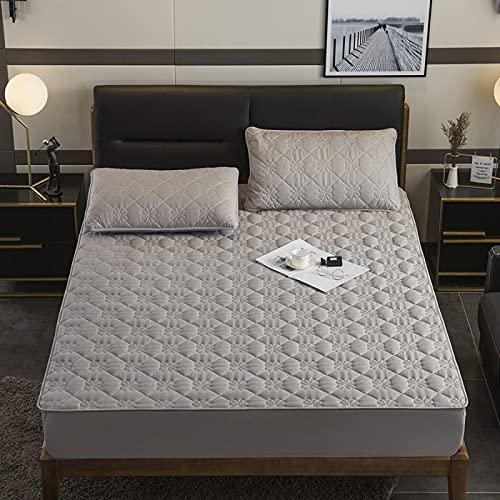 IKITOBI Sábanas bajeras extra profundas para cama king size, ultra suaves, sedosas y resistentes a las arrugas, 160 x 200 cm