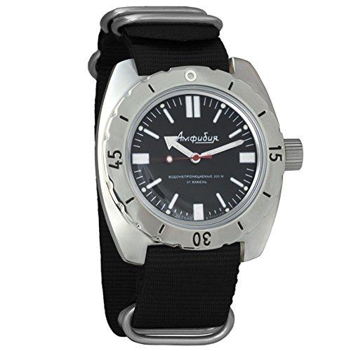 Vostok Amphibian Reloj de pulsera automático para hombre con cuerda automática, para buceador militar, anfibia, caja #150916