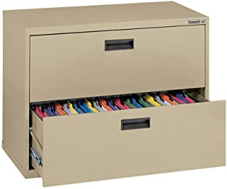 Sandusky 400 Series Tropical Sand Steel Lateral File Cabinet with Plastic Handle, 30