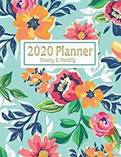 2020 Planner Monthly and Weekly: One Year Calendar Organizer with 12 Months Spread View | time management | Agenda & Journal | Personal Appointment | ... |8.5