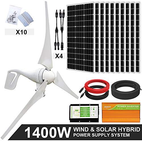 ECO-WORTHY 1400W Wind Solar Power Kit: 400W...