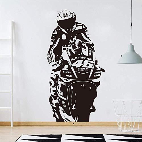 Valentino Rossi Wandaufkleber Wandbild Vr The Doctor Motor Race Wandtattoo Kinderzimmer Motorrad Racing Sport Wohnzimmer Decor J039 42 * 81 Cm