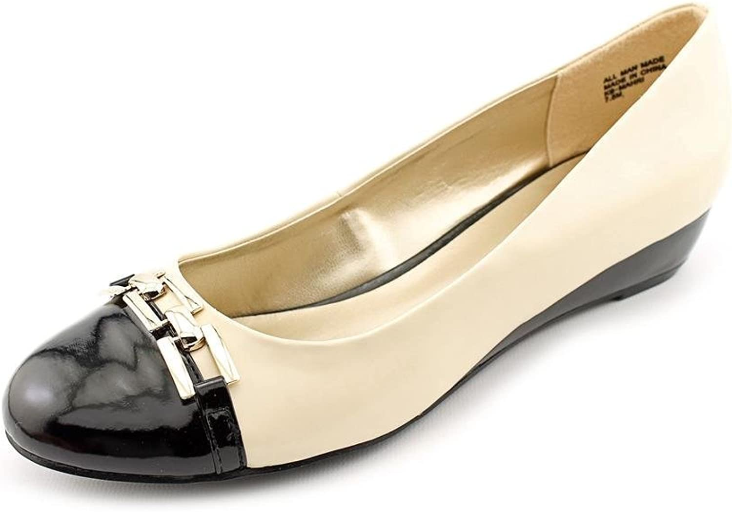Karen Scott Women's Mahri Wedge Pumps, Bone Black, Size 9.0