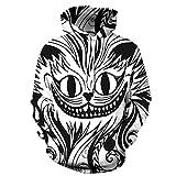 Los Hombres la Llama León Animales Hip Hop Modo de Chat con el Juego de la diversión 3D Unisex Hombre Encapuchado Off,QYXH340,L