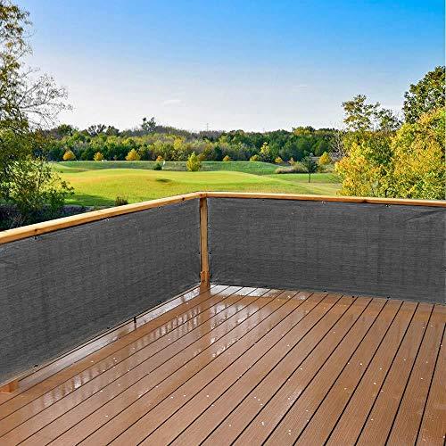 N/E. 500X90CM Sichtschutz Balkon Mit 20 Kabelbindern, HDPE UV-Reißfestigkeit Wetterbeständiger Zaun für Balkon Terrasse Poolbereich Und Garten