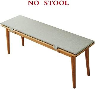 PLLXY Indoor Outdoor Bench Cushion,Memory Foam Set Cushion with Ties,Swing Long Chair Pad Non-Skid Balcony Chair Cushion Sofa Mat-Gray 120x30x5cm(47x12x2inch)
