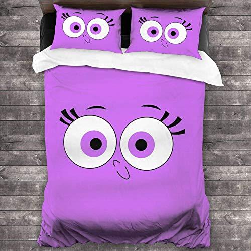 Juego de ropa de cama de 3 piezas de 218 x 177 cm, Fairly OddParents – Juego de sábanas para cama de matrimonio con 2 fundas de cojín clásicas para habitación de los niños