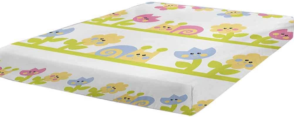 Minneapolis Mall LCGGDB Kids Fitted Sheet Queen Online limited product Tulip Bees Character Cartoon Size