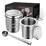 Homemaxs Teesieb Teefilter für losen Tee, 2 Stück 304 Edelstahl Tee Sieb inklusive Deckel...
