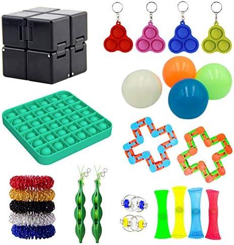 Sensory Fidget Toys for Adults Push Pop Bubble Square Stress Relief Infinity Cube Fidget Toy product image