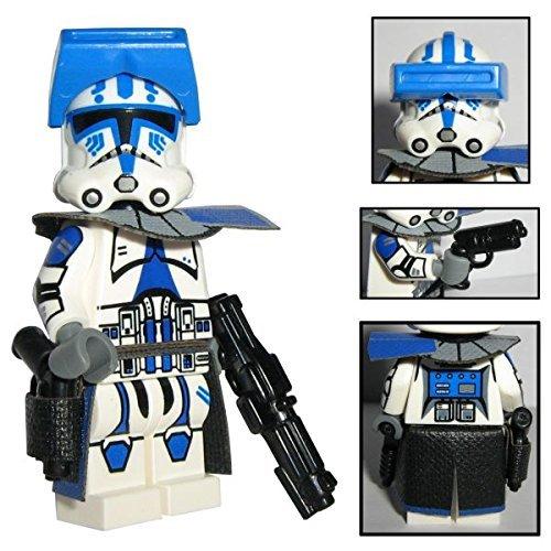 Custom Brick Design 501st Legion Clone Trooper Offizier Figur Captain Torros - modifizierte Minifigur des bekannten Klemmbausteinherstellers und somit voll kompatibel zu Lego