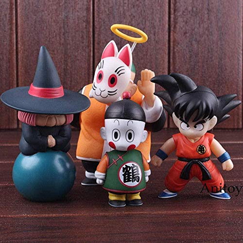 CXNY Anime Dragon Ball Action Figure Son Goku Gohan Chiaotzu Puar Uranai Baba Master Roshi Pilaf Dragon Ball Figure Giocattoli in PVC 4 pezzi/Set-B