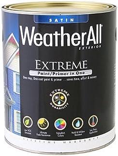 true value mfg company waes9-qt WAES9, True Value, Premium Weatherall Extreme, Paint/Primer In One, QT, White, Exterior Satin Paint