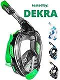 Khroom Von DEKRA geprüfte CO2 sichere Schnorchelmaske Vollmaske | bekannt aus YouTube | Seaview X -...