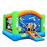 Hüpfburgen Große Home Außen Großer Kinderspielplatz Aufblasbare Trampoline Kinderrutsche Kinder Aufblasbaren Pool (Color : Color, Size : 470 * 385 * 260cm)