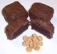 Scott's Cakes Milk Chocolate Brownie Bites Peanut Butter Chips in a Bright Eggs Pail