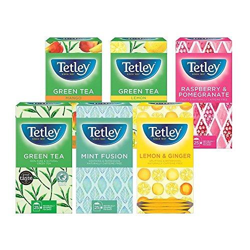 Tetley Tea Bags Fruit and Herbal Variety Box of 25 Ref 1301G - Pack 6