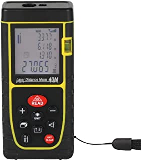 Versatility Accurate 40M Handheld Laser Meter Laser rangefinder Electronic Ruler Digital Tape Measure Color 40M Yellow Measurement Range 40M Measuring Range