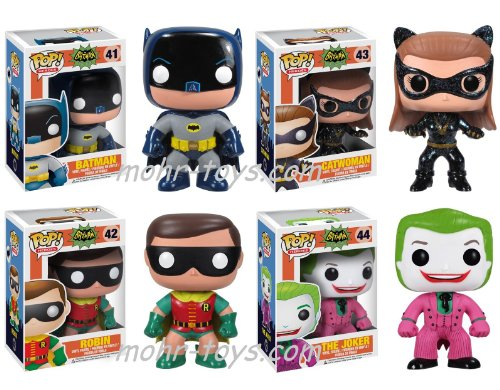 FUNKO POP! HEROES: 1966 BATMAN COMPLETE SET OF 4 RETRO COOL FIGURES