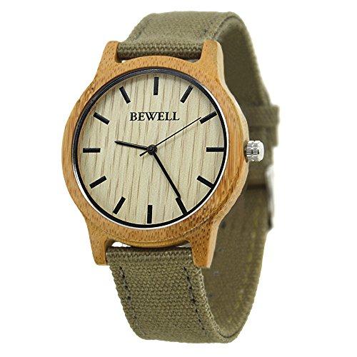 Bewell W134A Vigilanza di legno naturale del bewell con tela di canapa...