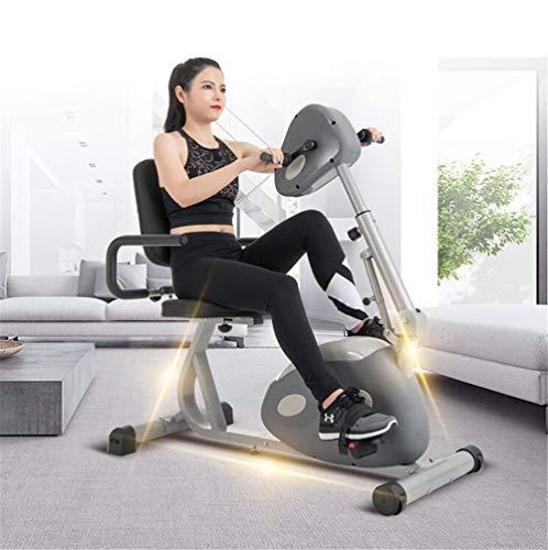 DYHQQ Elektrisches Pedal-Trainingsgerät für Senioren Tragbares Fitness-Fahrrad für Arm- / Beinübungen Mini Cycling Trainer Stationäre Übung
