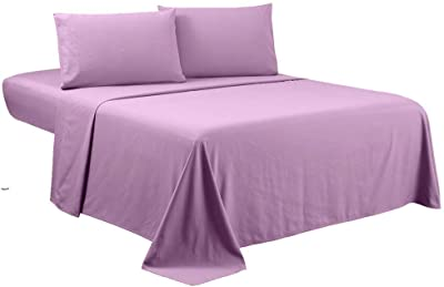 Bedding Castle,, 800 Thread Count Luxury Egyptian Cotton 4pc Sheet Set-Stain Wrinkle Fade Resistant, 13 inch Deep Pocket Bedding Set (Full XL, Lavender)
