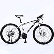 Material: strong and durable carbon steel frame. It can bear about 150 kg. Excellent Performance?26? tire can handle hilly terrains and the gear change is awesome and smooth. Perfect for mountain, wasteland ,also effective on the road, trail, city, b...